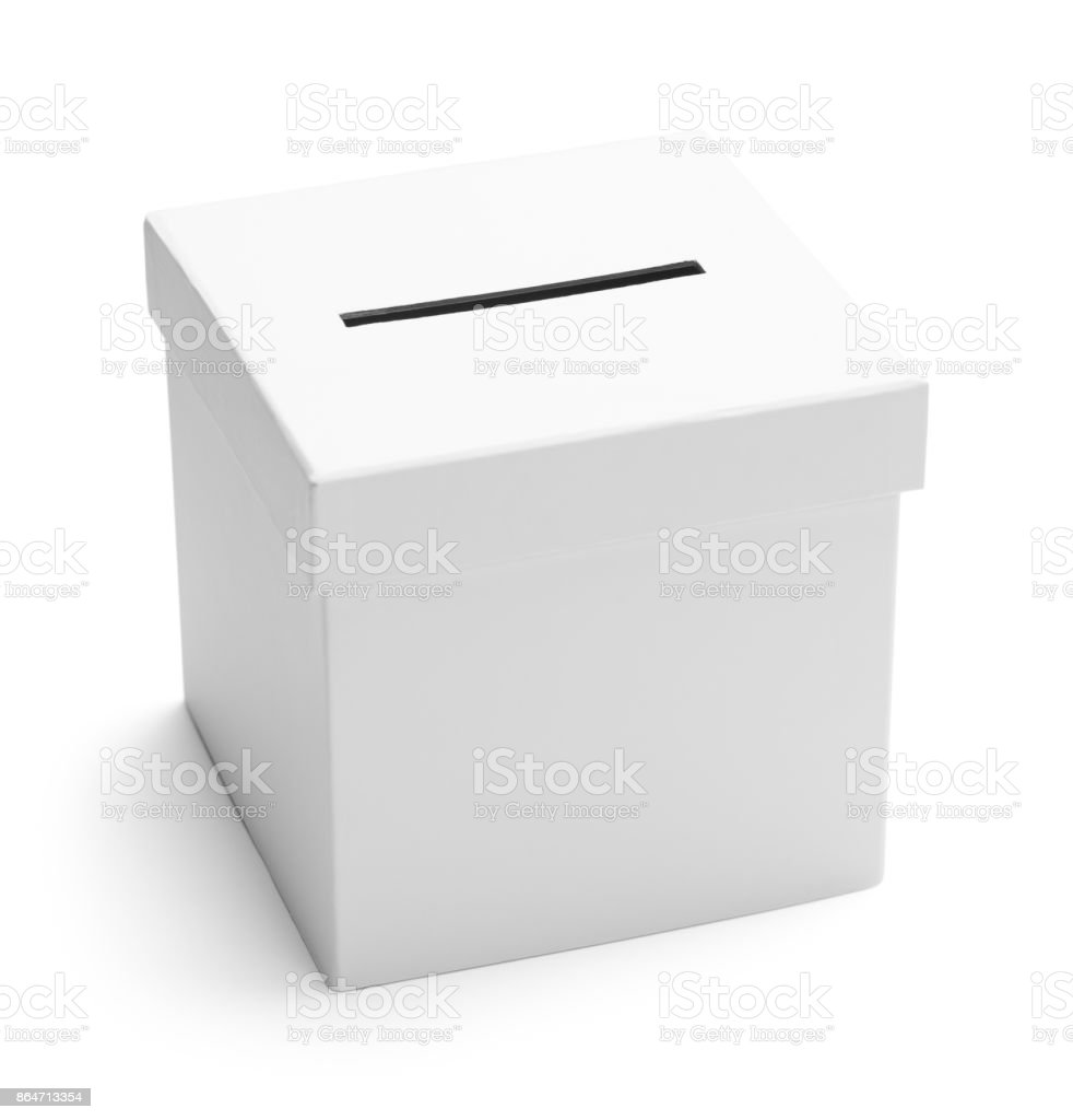 Ballot Box White stock photo