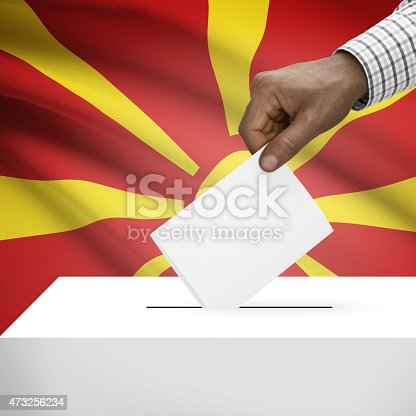 935056316 istock photo Ballot box with national flag series - Republic of Macedonia 473256234