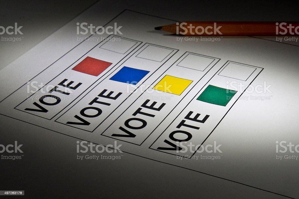 Ballot/Voting paper stock photo