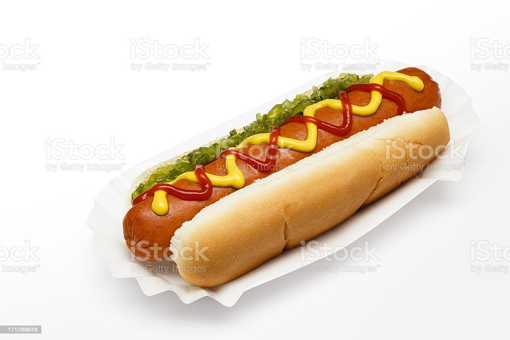 Ballpark Hotdog (path) stock photo