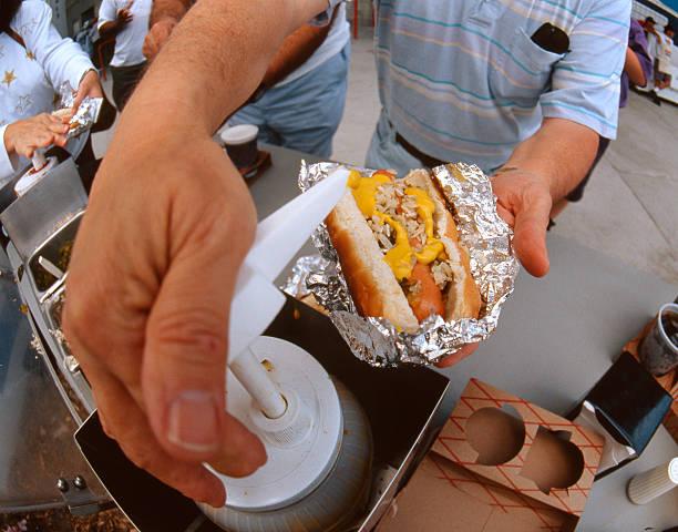 Ballpark Hotdog stock photo