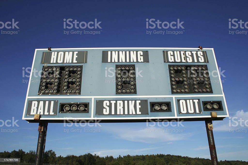 Ballpark - Scoreboard 03 stock photo