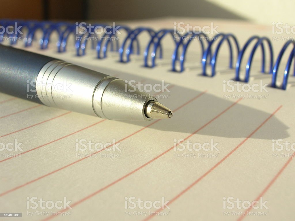 Ballpen and Notebook royalty-free stock photo