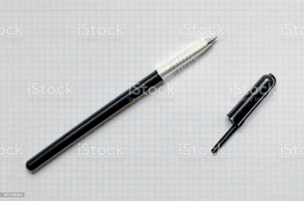 ballpen without cap stock photo