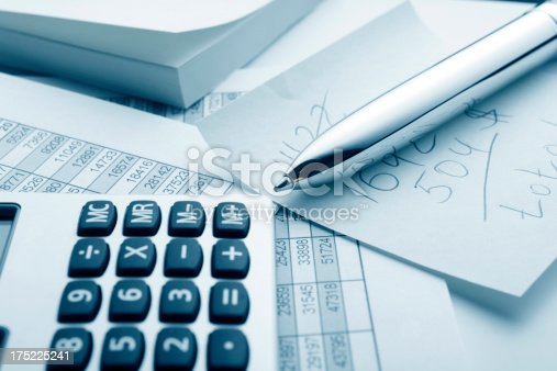 istock Ballpoint pen and calculator 175225241