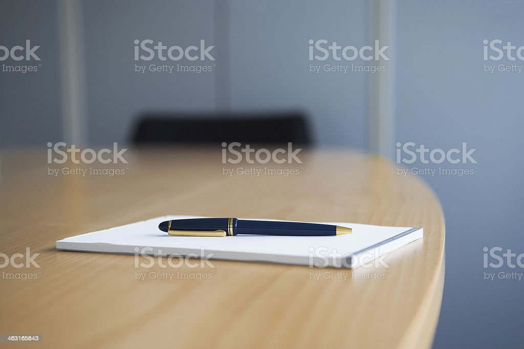 Ballpoint Pen and Notepad stock photo