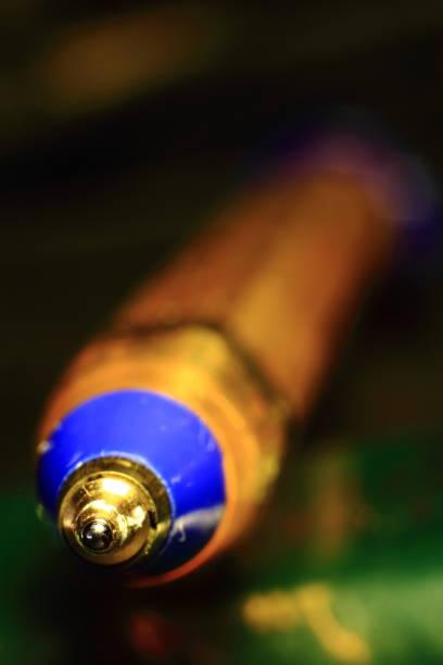 Kugelschreiber-Vorderteil-Makro – Foto