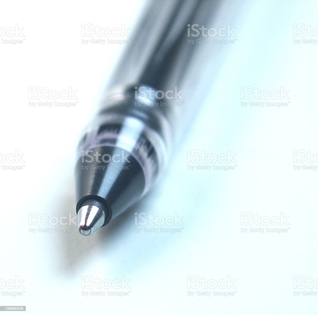 Ballpoint Pen Macro royalty-free stock photo