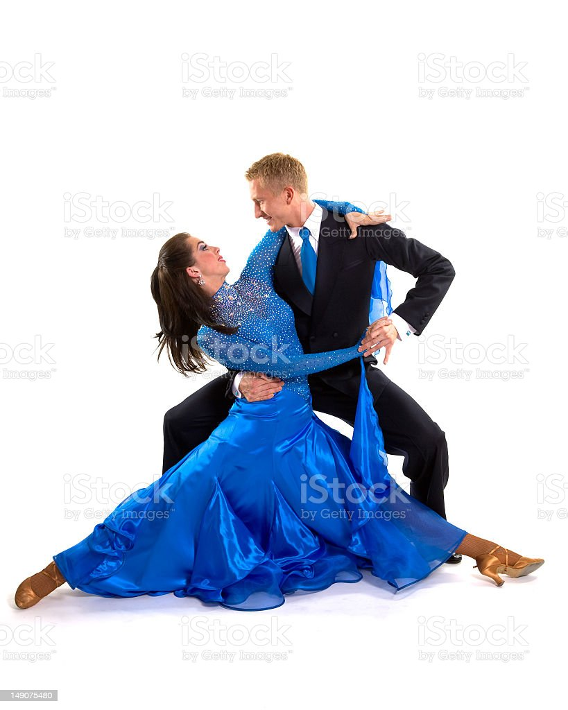 Ballroom Dancers Blue 05 stock photo