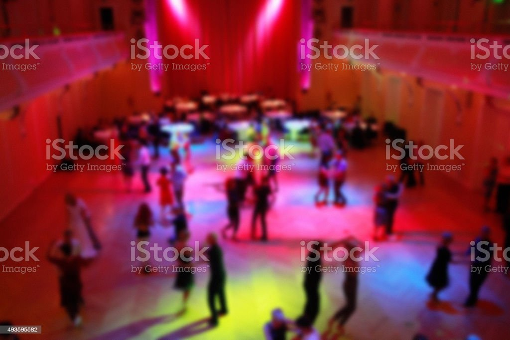 Ballroom dancing - blured stock photo