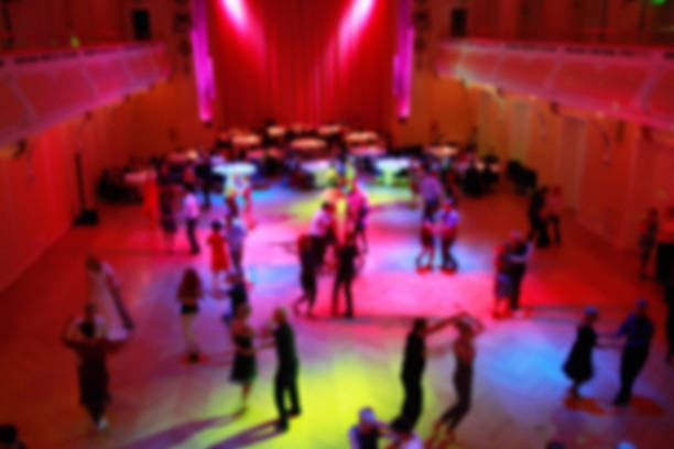 ballroom dancing - blured - dance floor stock photos and pictures