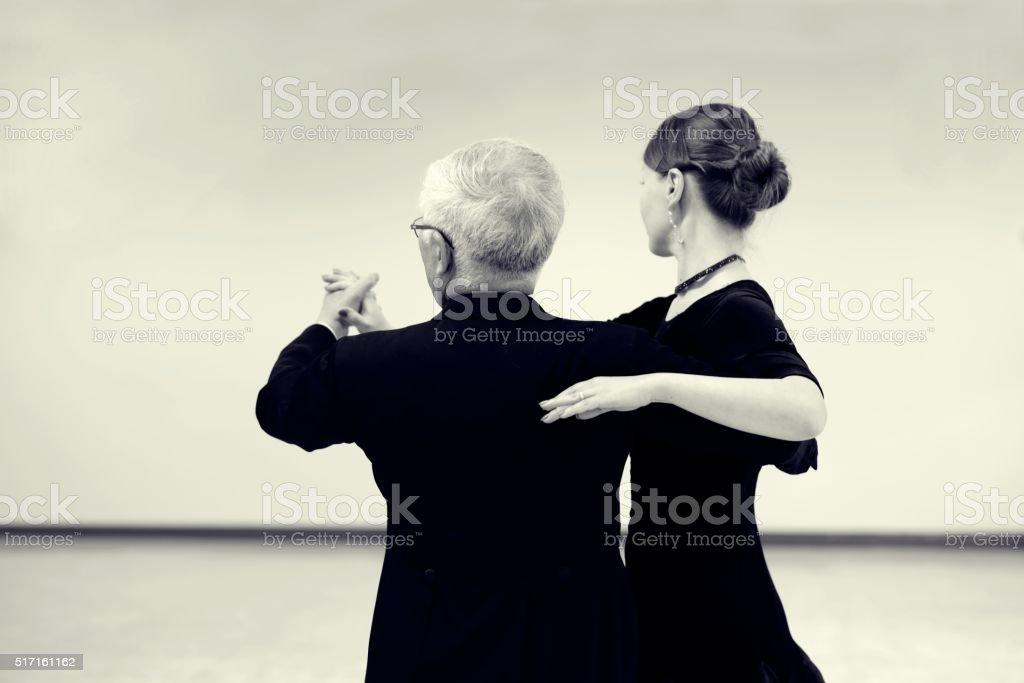Ballroom dancing stock photo