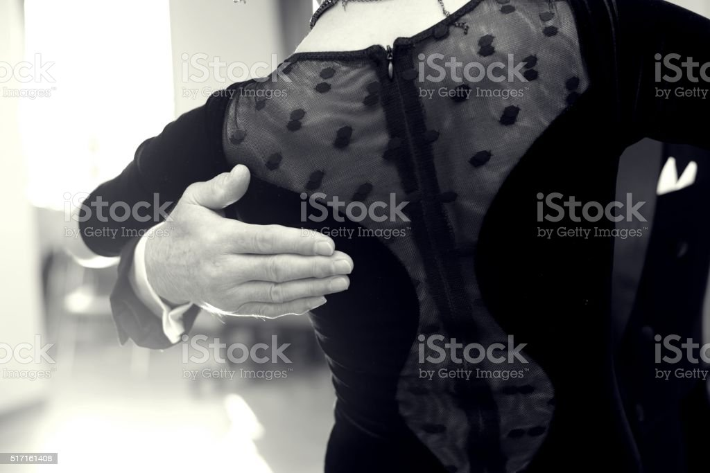 Ballroom dancing stock photo
