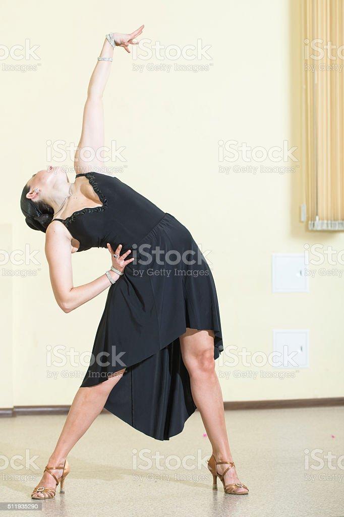 ballroom dancing.Latin -American Program, solo stock photo