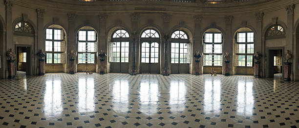ballroom, reflected - stately home stock photos and pictures