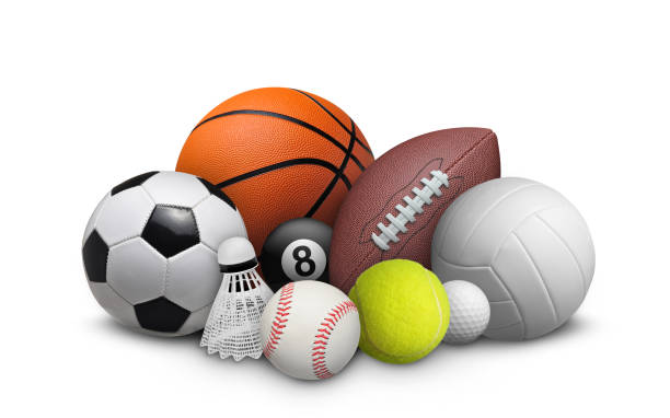 balls collection - badminton sport stock pictures, royalty-free photos & images
