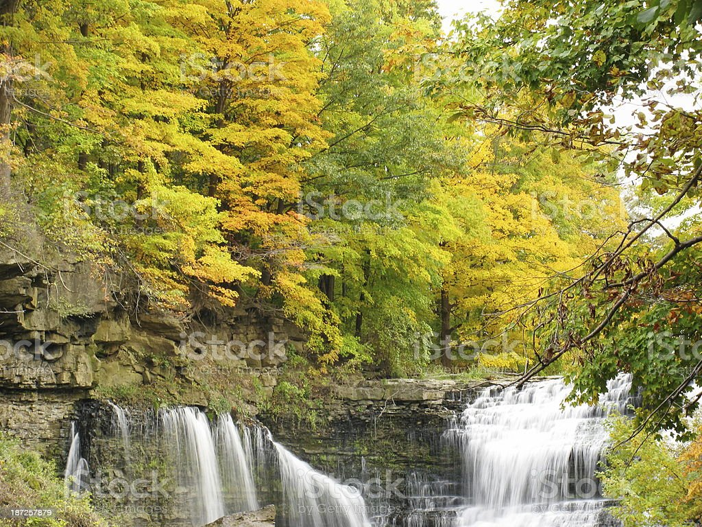 Balls Falls in Full Autumn Color stock photo