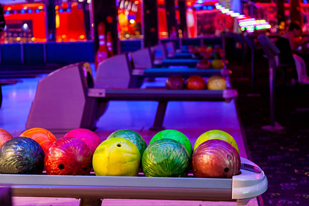 Balls in bowling stock photo