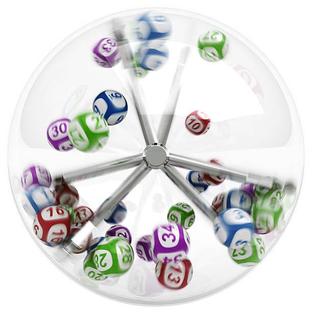 Bälle in Lotterie-Maschine – Foto