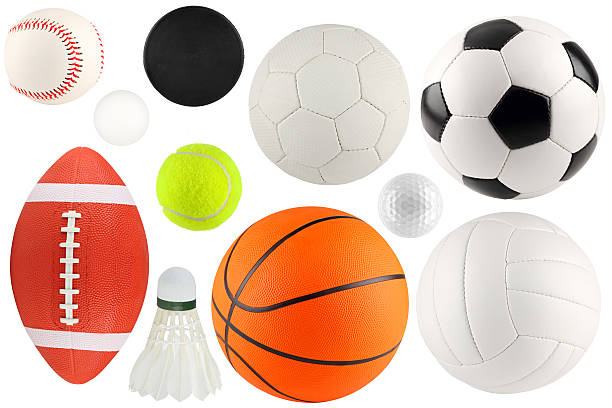 balls in sport 1 a set of different sport equipment and balls baseball sport stock pictures, royalty-free photos & images