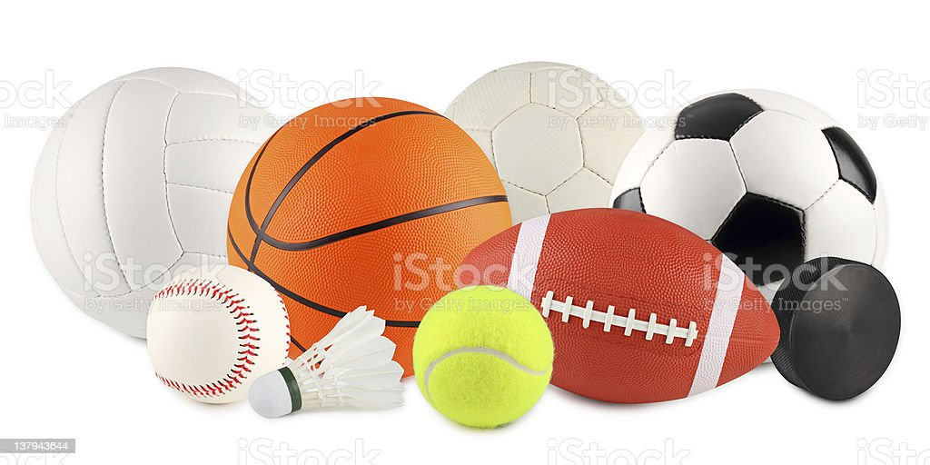 balls in sport 3 royalty-free stock photo