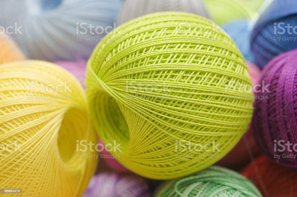 Balls of a wool royalty-free stock photo