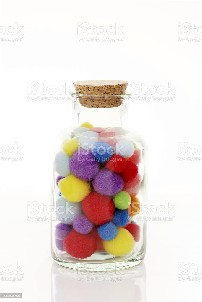 Balls of cotton royalty-free stock photo