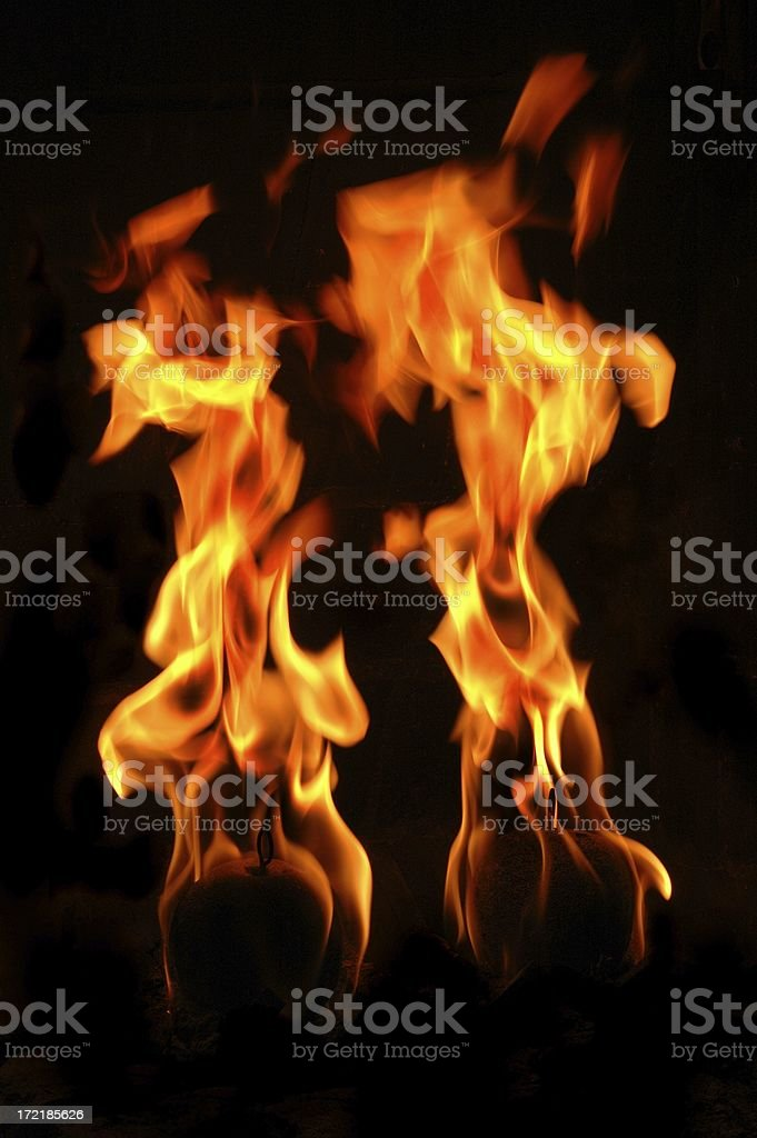 Balls of fire royalty-free stock photo