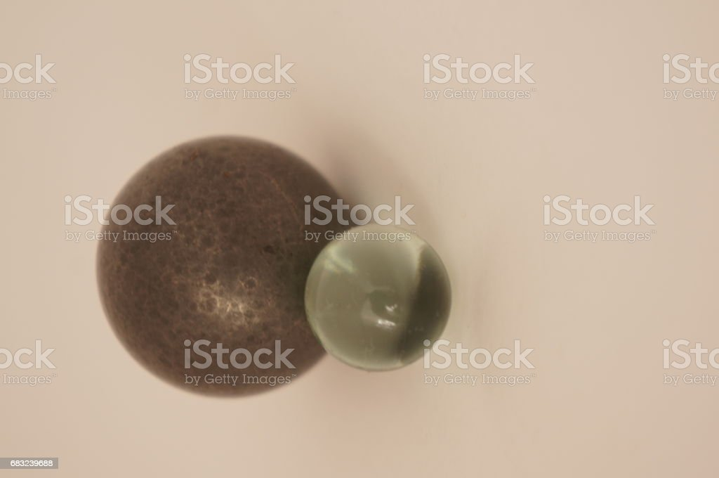 Balls of glass and iron 免版稅 stock photo