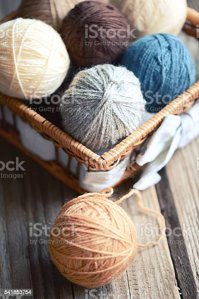 Balls of wool in a basket on a wooden background picture id541853754?b=1&k=6&m=541853754&s=612x612&h=d4gmbvnr0iuwowt9mlmp uoeb6xp59d7 ab9tzbhmdo=