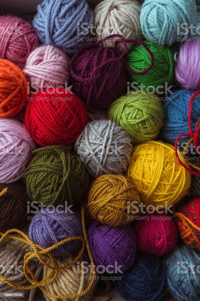 Pelotas de lana - foto de stock