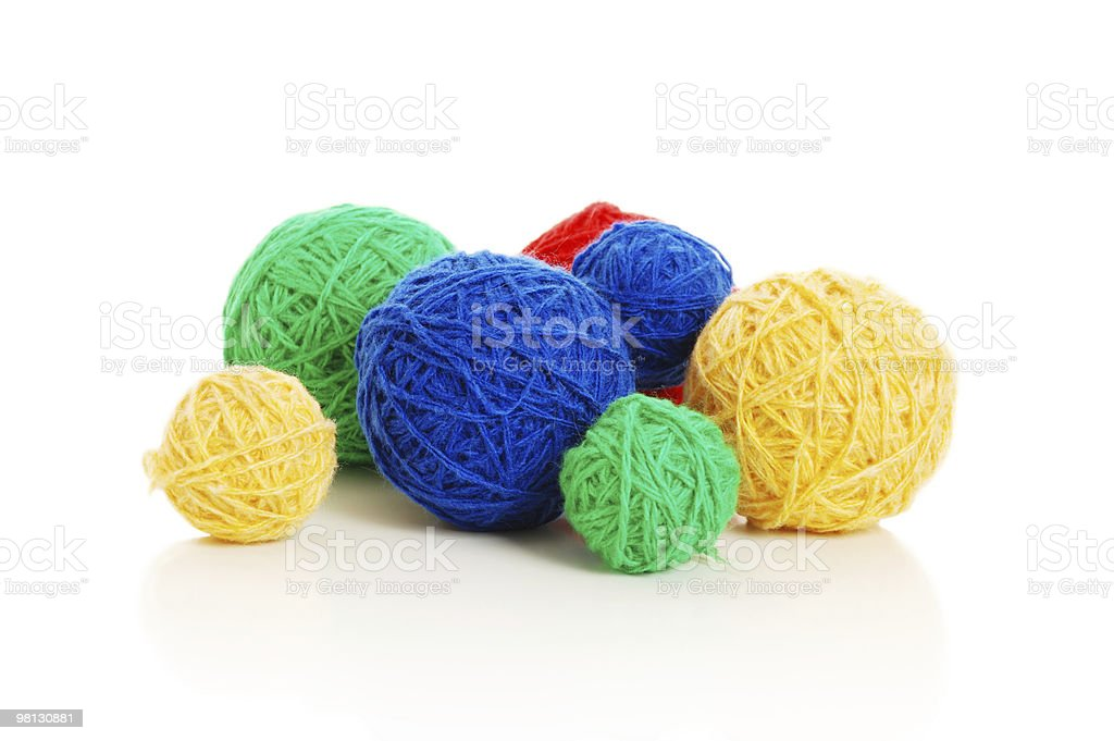 Balls of wool royalty-free stock photo