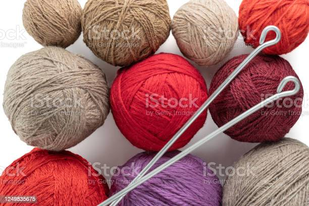 Balls of yarn in different colors with knitting needles picture id1249835675?b=1&k=6&m=1249835675&s=612x612&h=bcij97be psnjudg egvp zylbrycove3vlwrtzhr2y=