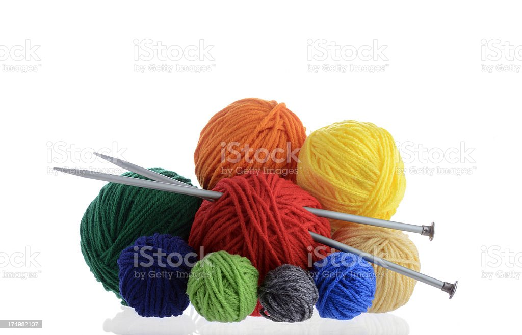 Balls of yarn stock photo