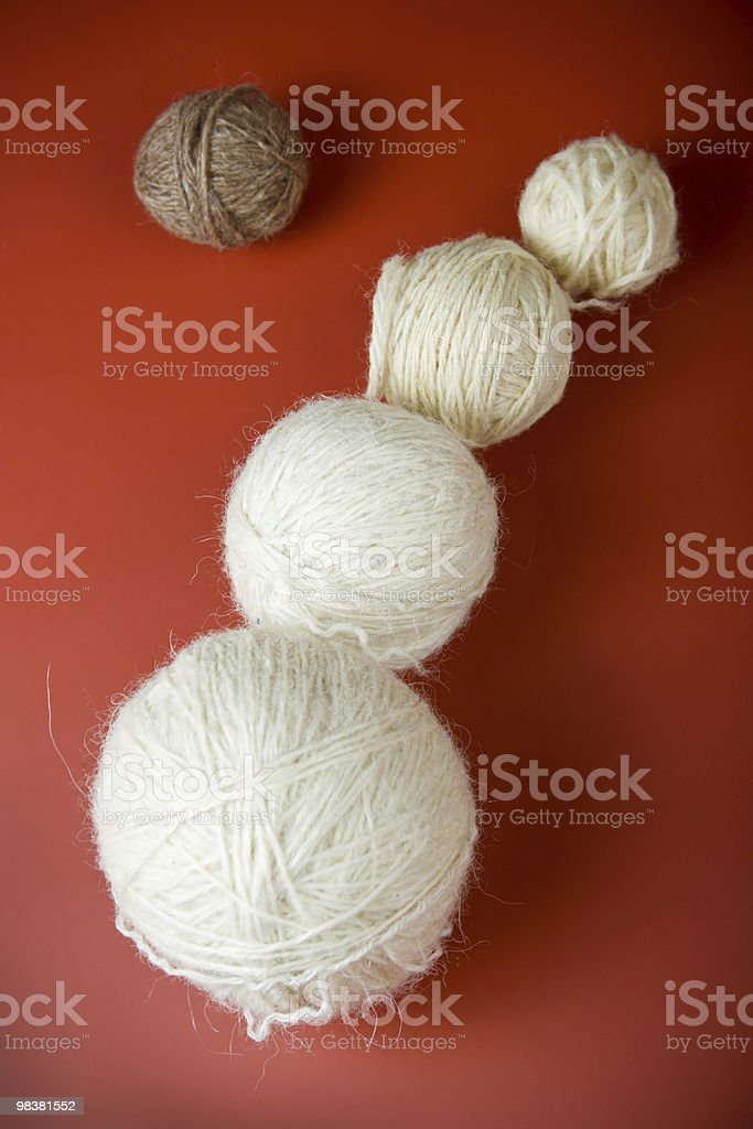 balls of yarn royalty-free stock photo