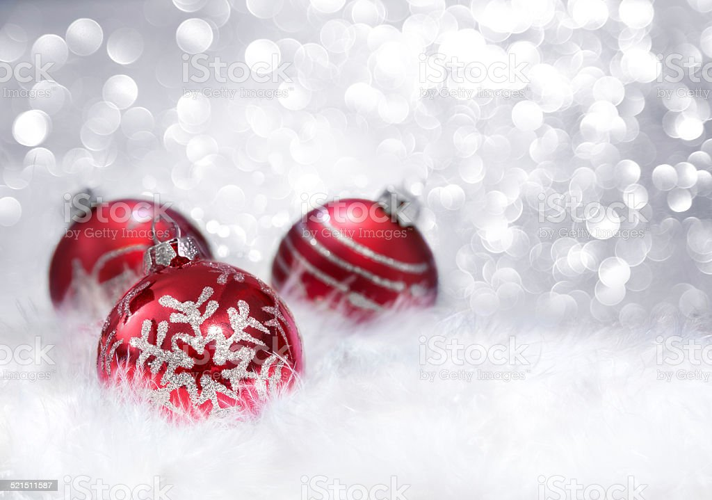 balls red xmas decoration stock photo