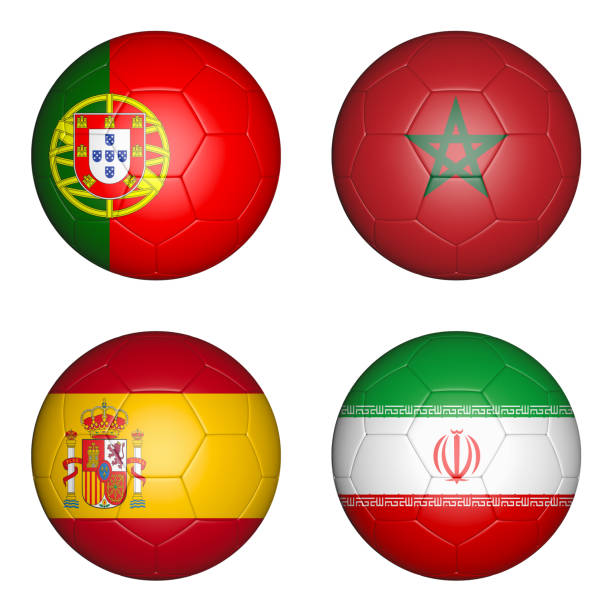 bollar med flaggor - football portugal flag bildbanksfoton och bilder