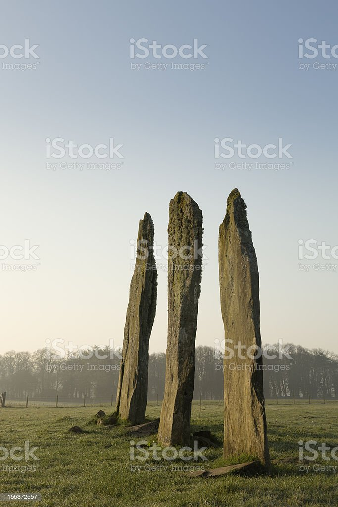 Ballymeanoch Standing Stones royalty-free stock photo