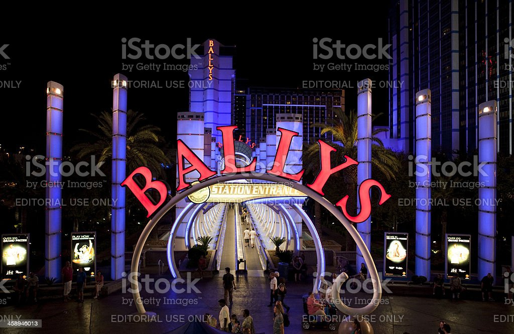 Bally's Hotel and Casino Nighttime stock photo