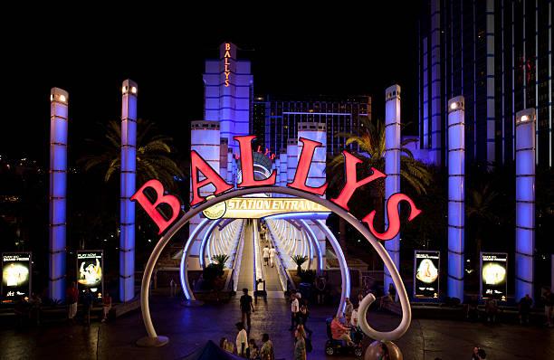 Bally's Hotel and Casino Nighttime stock photo