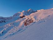 Balmenhorn peak. Majestic snowy mountain side