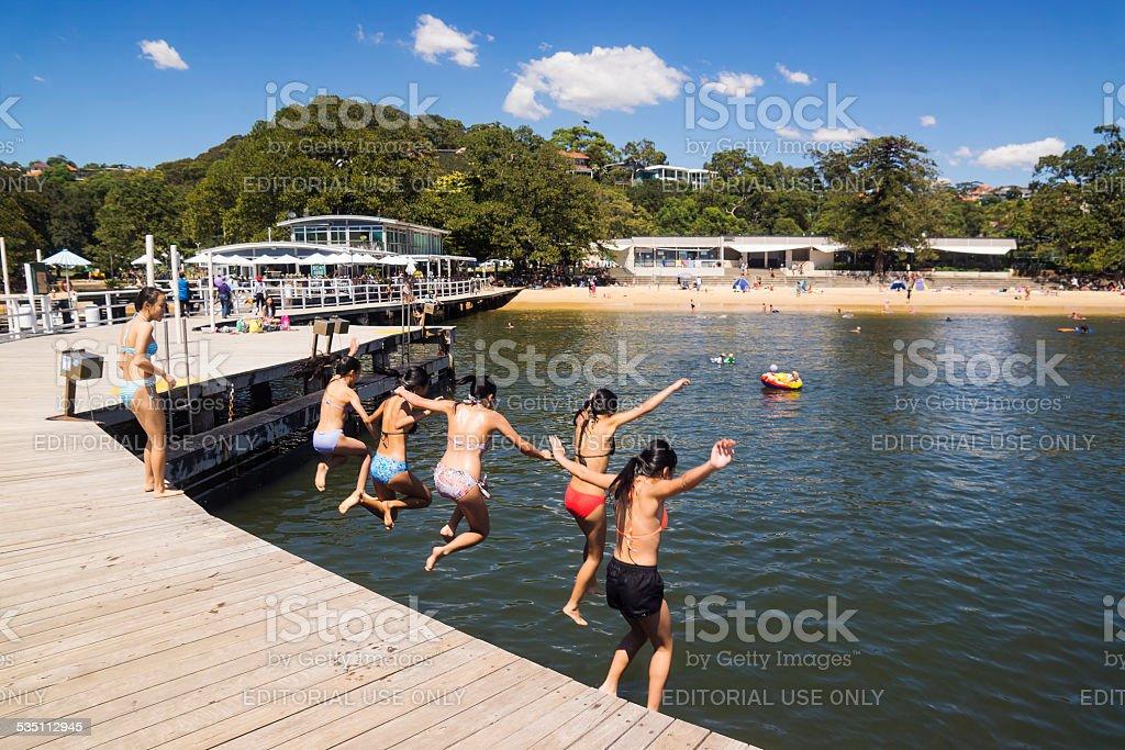 Balmoral Beach Baths stock photo