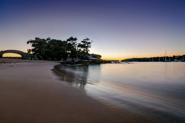 Balmoral_Beach_dawn stock photo