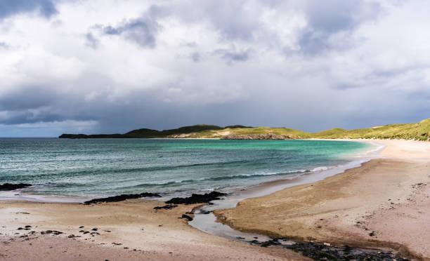 Balnakeil beach in northern Scotland stock photo