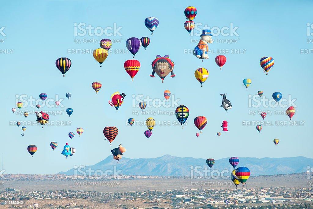 Baloon fiesta in Albuquerque, New Mexico. stock photo