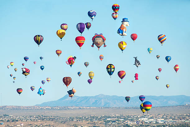 Baloon fiesta in Albuquerque, New Mexico. stock photo