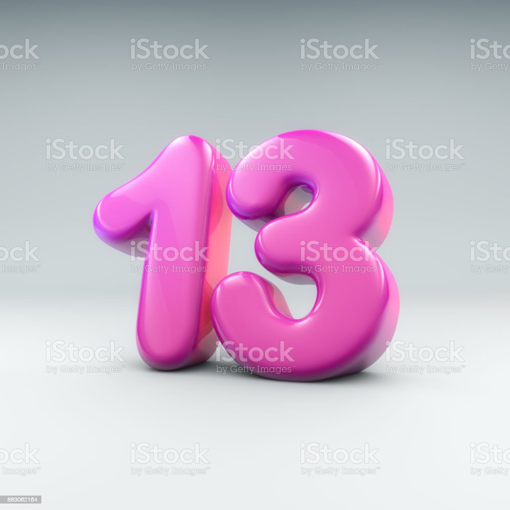 Baloon number 13 - Royalty-free 12-13 Years Stock Photo