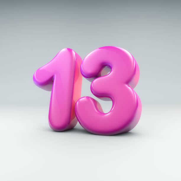 ballon-nummer 13 - number 13 stock-fotos und bilder