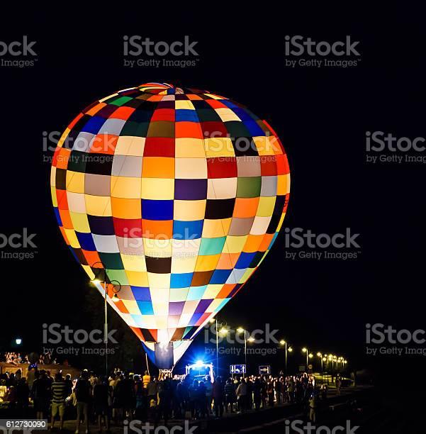 Photo of baloon vehicle at night