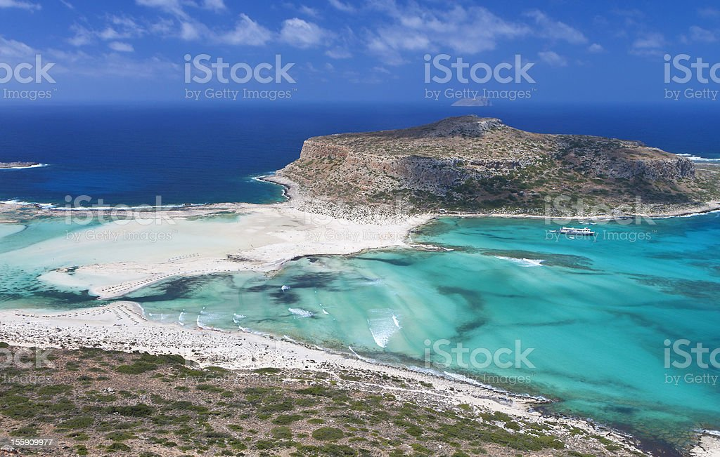 Balos bay at Crete island in Greece stock photo
